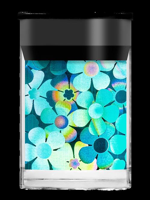 Turquoise Flowers Foil