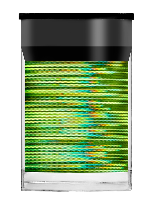 Lime Green Holographic Silver Foil