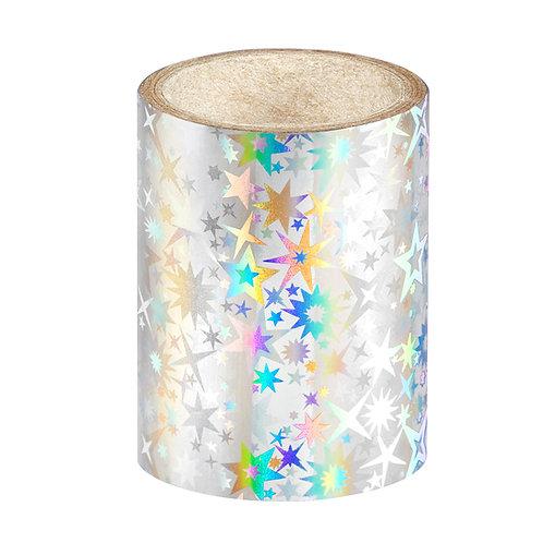 Silver Stars Nail Foil