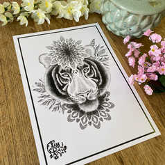 Mandala Tiger Print