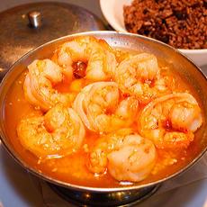 Shrimp in Garlic Sauce with Moro Rice