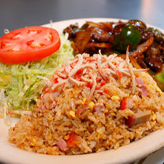 Green Pepper Steak with Special Fried Rice