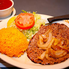 Beef Steak Tenderlion with Yellow Rice