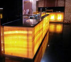 Átvilágított Onyx pultrendszer ( Spirit Hotel )