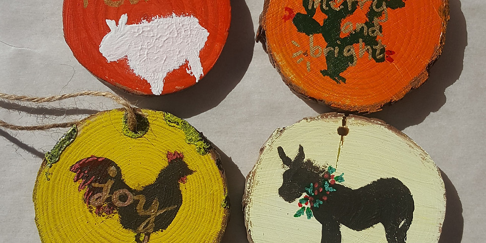 Virtual Rustic Wood Christmas Ornament Class