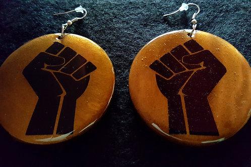 Power Fist Brown Earring