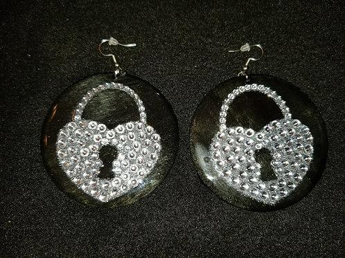 Bling Lock Earrings