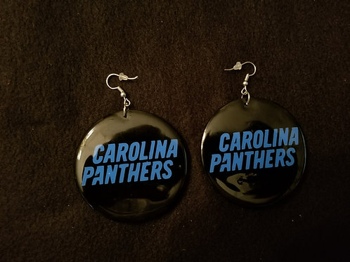 Carolina Panthers Name Earrings