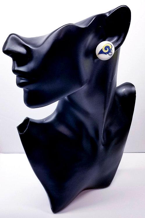 Rams Button Earrings