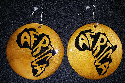 Africa with Words Brown Earrings