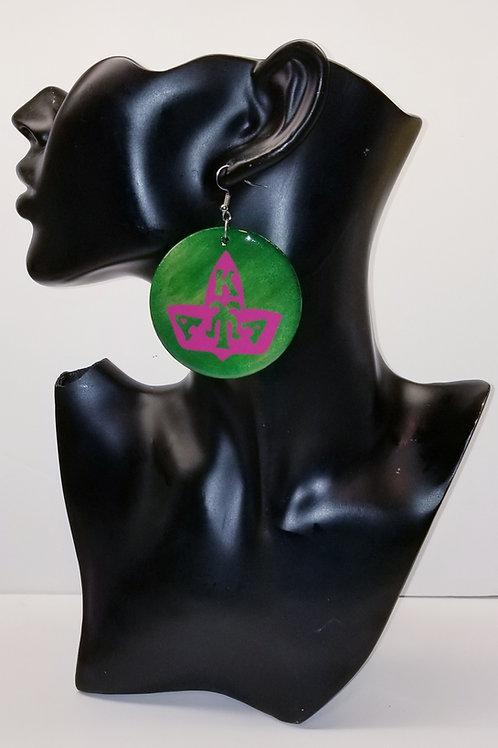 AKA Pink Ivy Green Earrings