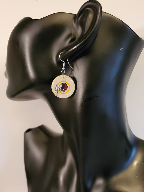 Redskins Light Brown Small Medallion