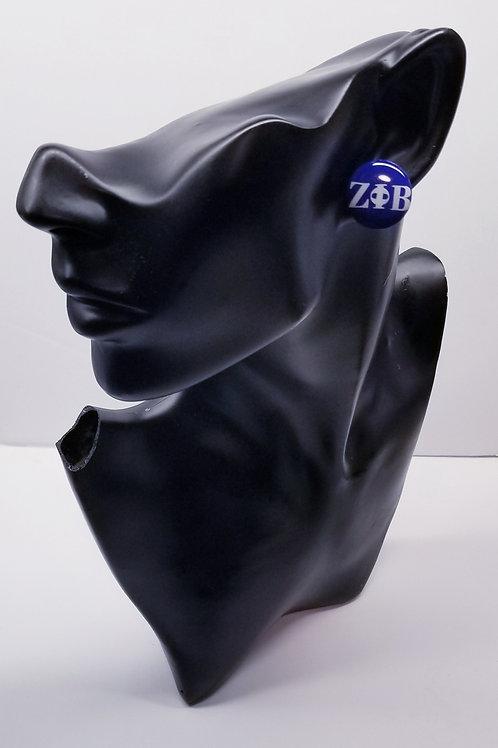 Zeta Button Earrings