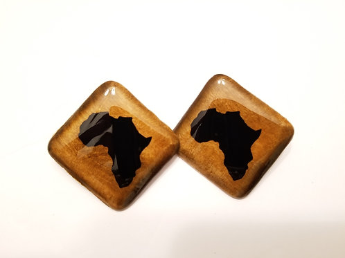 Africa Square Studs