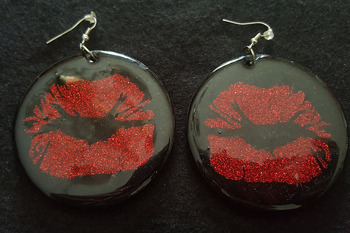 Glitter Red Earring