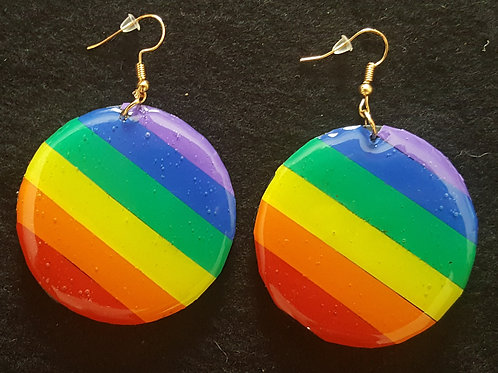 Rainbow Diagonal Stripes Earrings