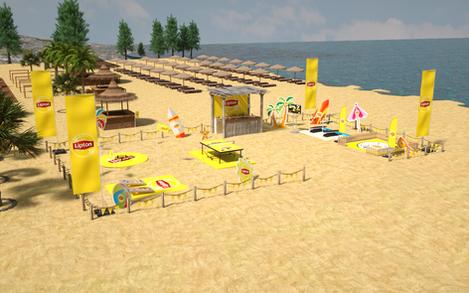 Lipton Street Promo Beach Games Setup 01