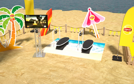Lipton Street Promo Beach Games Setup 06