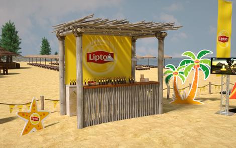 Lipton Street Promo Beach Games Setup 05