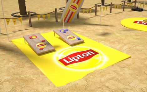 Lipton Street Promo Beach Games Setup 02