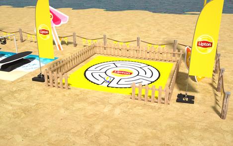 Lipton Street Promo Beach Games Setup 07