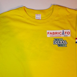 Remera Básica Serigrafiada Disal Amarillo