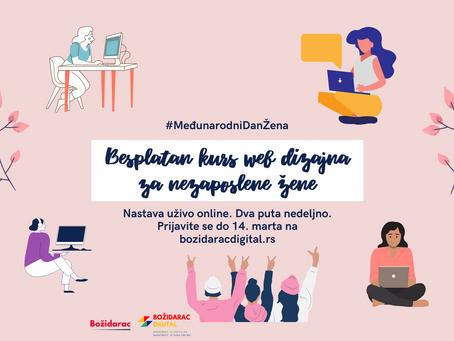 Besplatan kurs web dizajna za nezaposlene žene