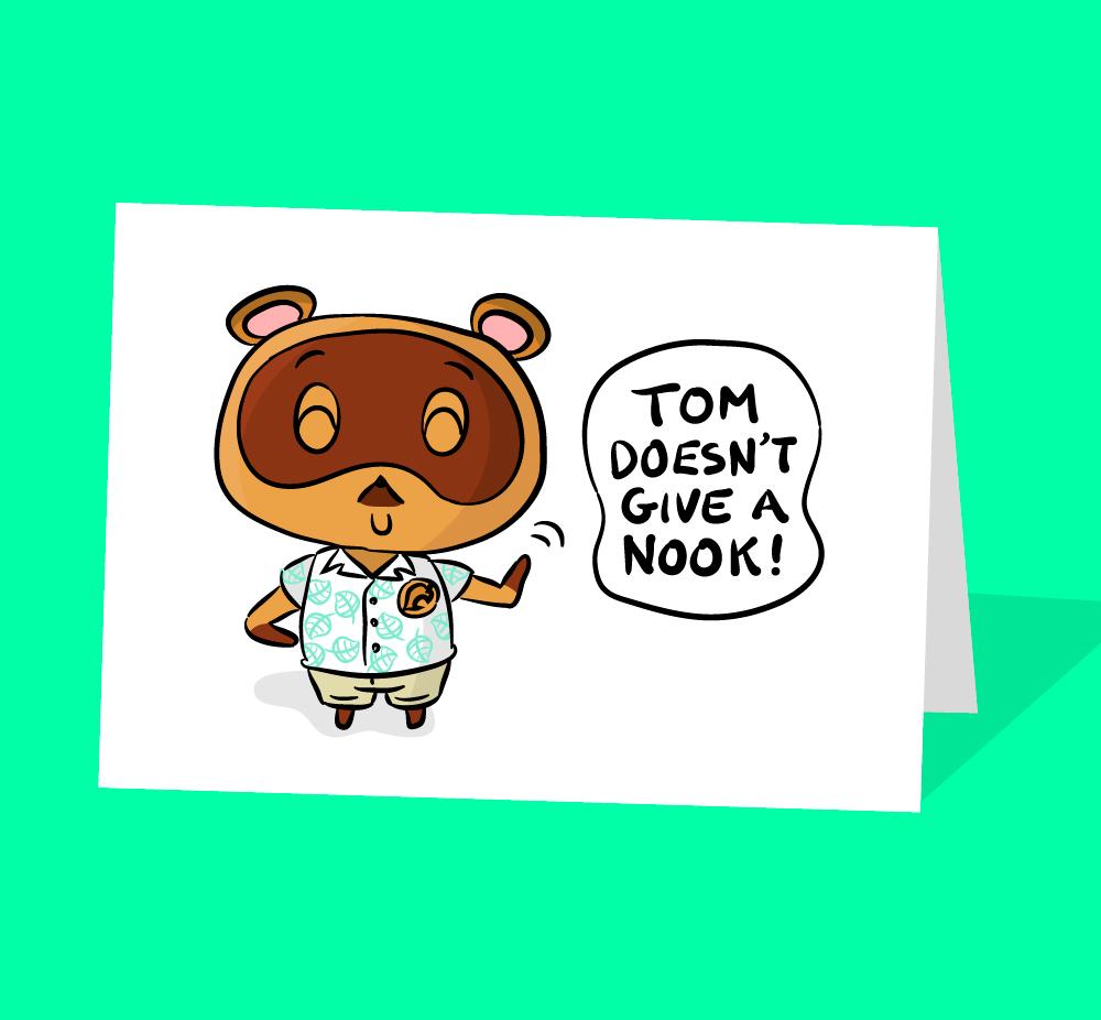 tom nook birthday card