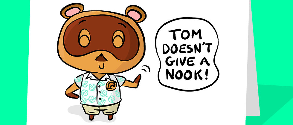 tom nook greeting card