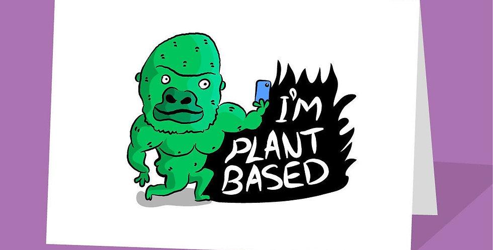 I'm plant based card