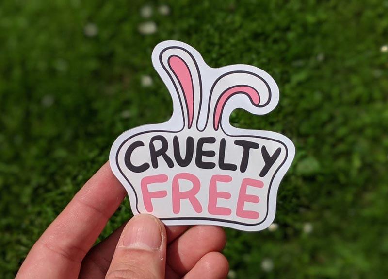 cruelty free sticker vegan