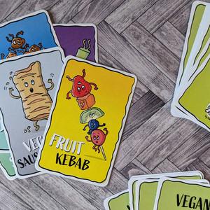 Vegan Snap Cards & Top Trumps, my fun food card games