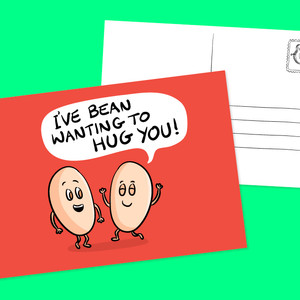 Cute Food Postcards for sending happy messages
