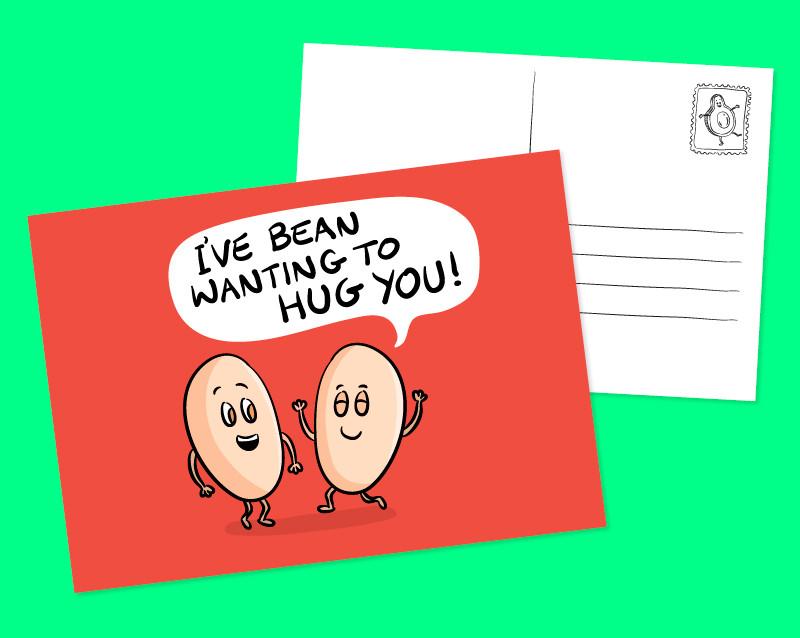 bakd bean postcard