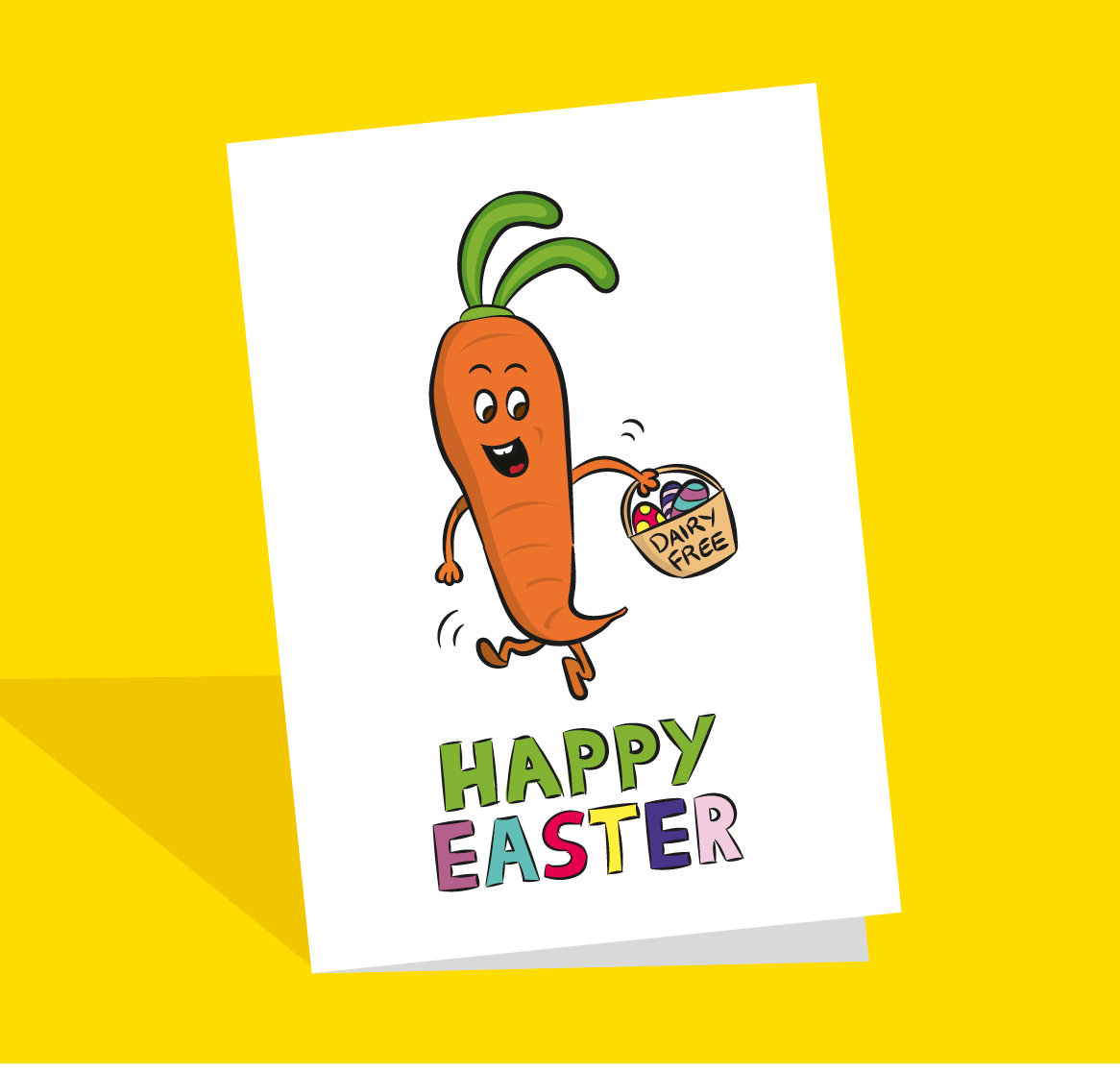 vegan easter card