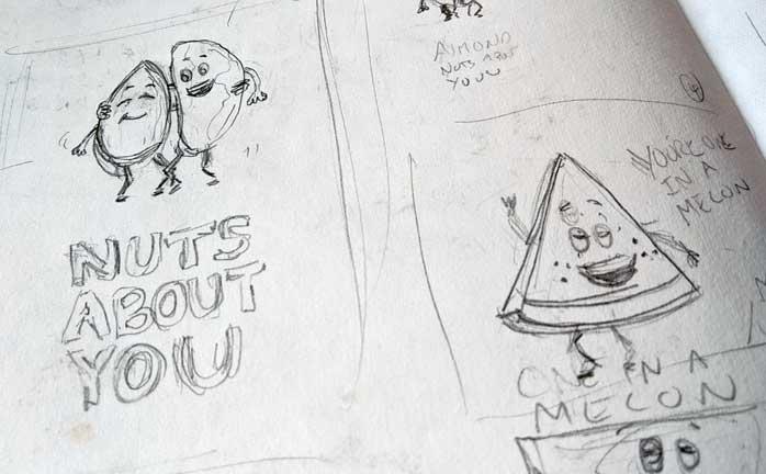 food pun sketch ideas