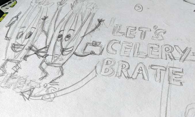 vegan illustrator