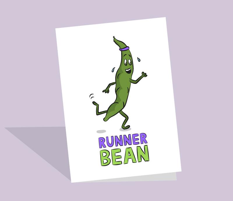 runner bean card