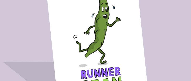 Running birthday card