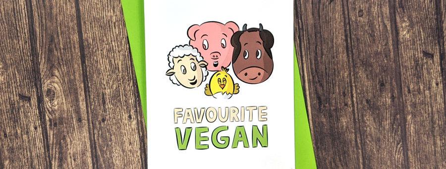 vegan friendship card