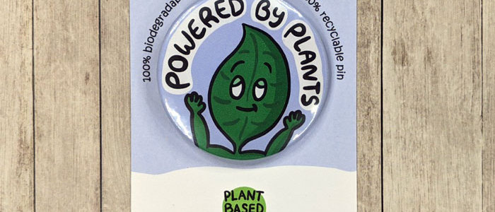 Powered by plants badge
