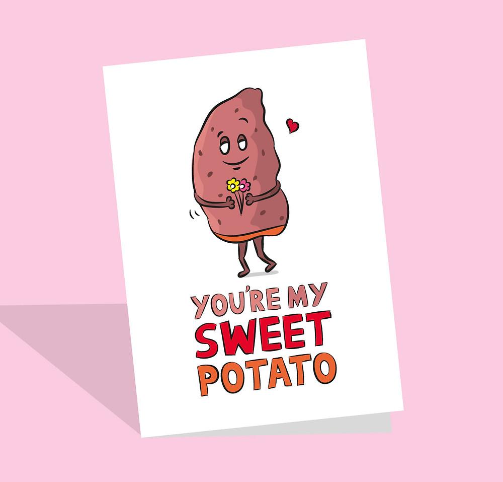 sweet potato card