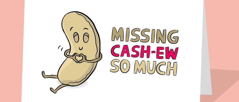 missing you vegan cashew card
