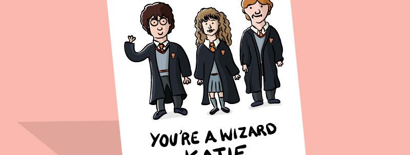 harry potter personalised card