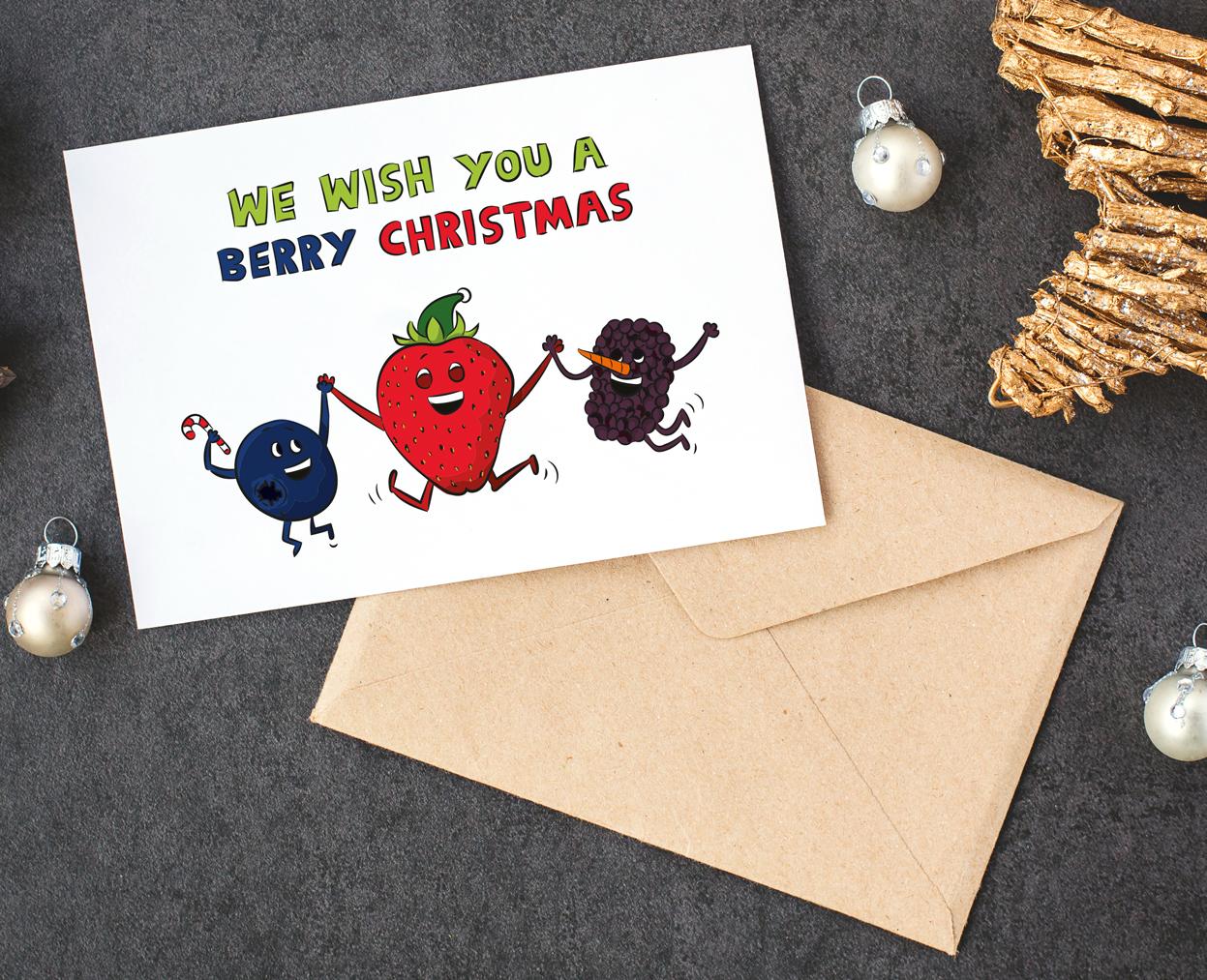 food pun christmas card