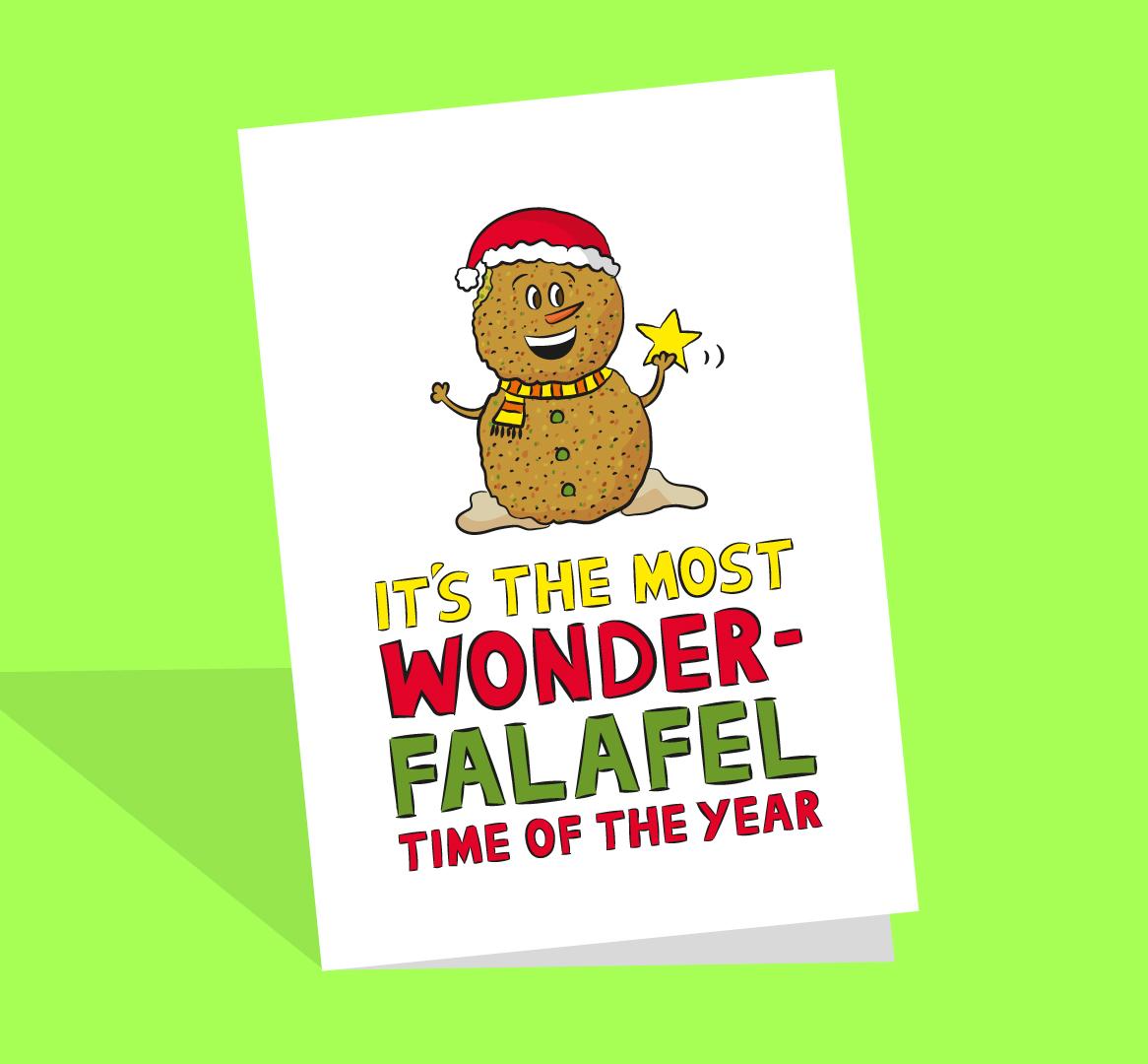 funny falafel christmas card