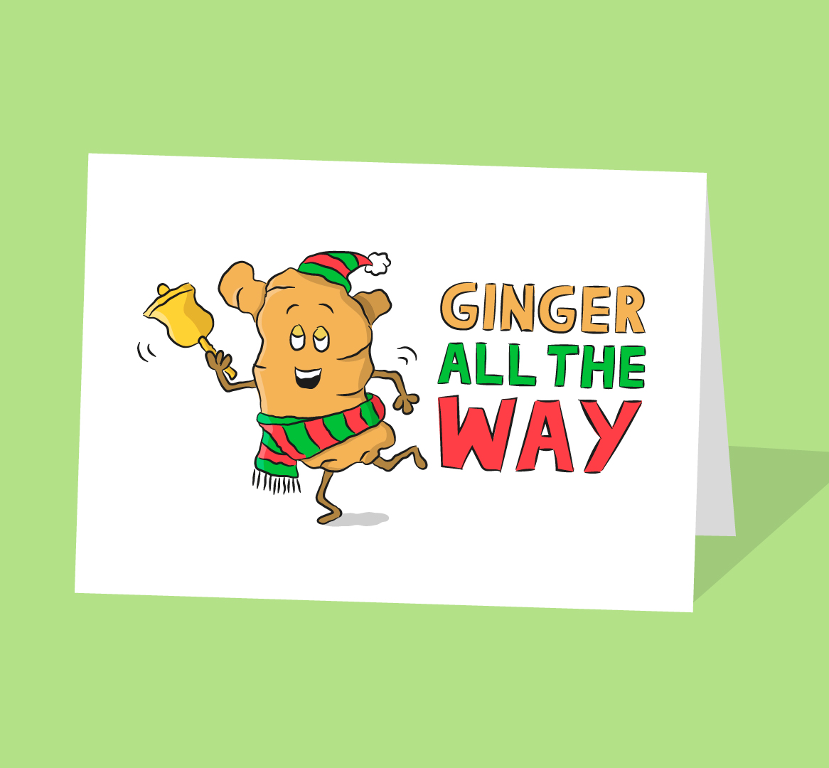 ginger root christmas card