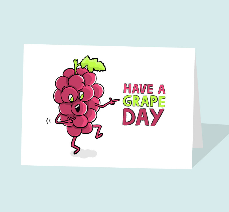 grape birthday card