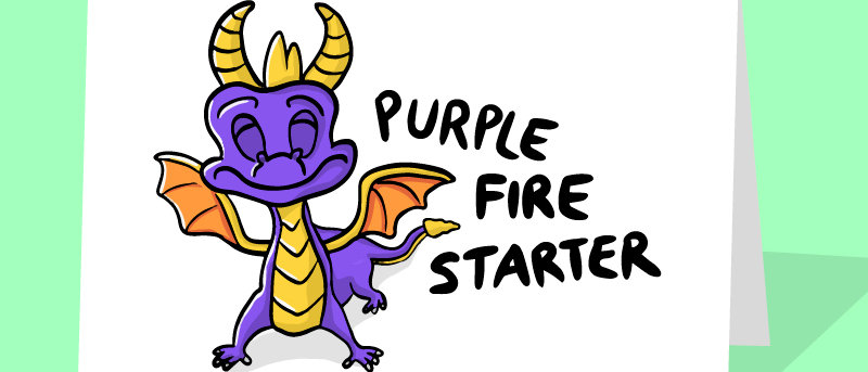 spyro the dragon birthday card