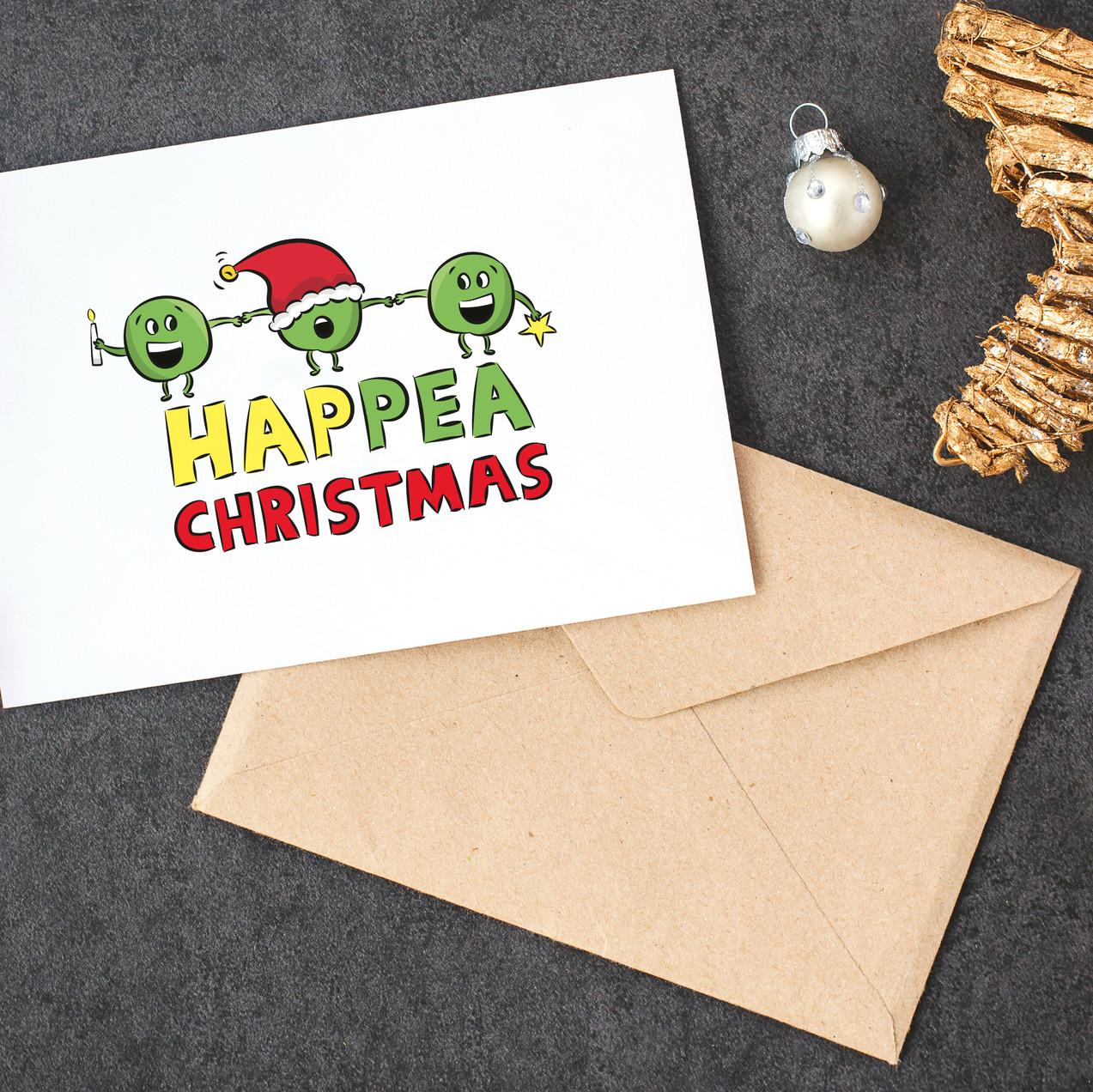 pea christmas card